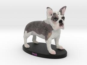 Custom Dog Figurine - Tig in Full Color Sandstone