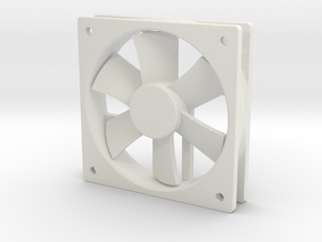 1/6 Scale 120mm Comp Fan in White Strong & Flexible