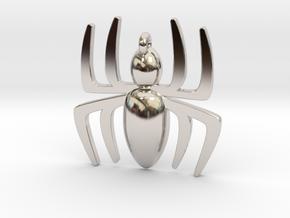 Small Spider Pendant in Platinum