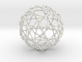 Bamboo Sphere in White Natural Versatile Plastic