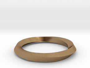 Mobius Wedding Ring-Size 6 in Natural Brass