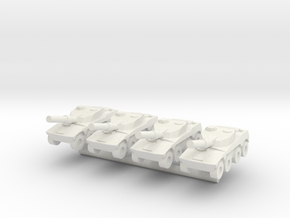 1/285 Rooikat AFV (x4) in White Natural Versatile Plastic