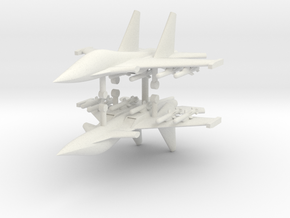 1/285 Su-34 Fullback (x2) in White Natural Versatile Plastic