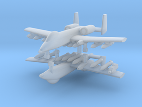 1/285 A-10 Thunderbolt II (Full Loadout) (x2) in Smooth Fine Detail Plastic