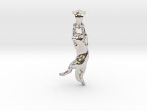 Cat Pendant in Platinum