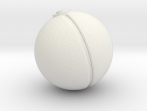 Pokeball (sm) in White Natural Versatile Plastic