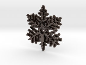Snow Flake in Polished Bronzed Silver Steel