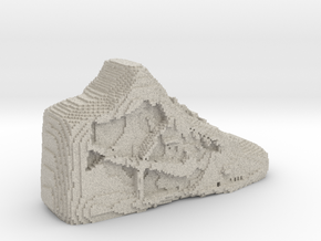 Pixelated Basketball Shoe by Suprint in Natural Sandstone