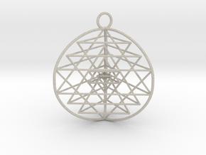 3D Sri Yantra version 3 in Sandstone