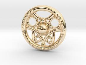 Circle Pendant in 14K Yellow Gold