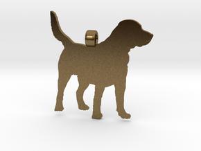 Labrador Retriever Silhouette Pendant in Natural Bronze