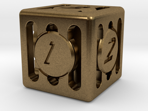 Dice - Gear Shift - D6 in Natural Bronze