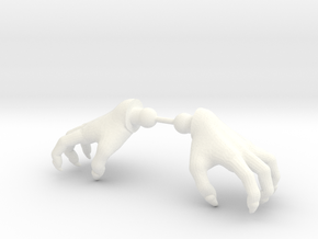 Monster Hands in White Processed Versatile Plastic