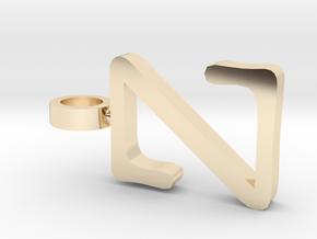Z Letter Pendant in 14K Yellow Gold