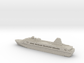 Pixellated Miniature Cruise Ship in Natural Sandstone