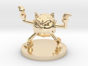 Primeape Pokemon in 14K Yellow Gold
