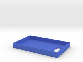 Business Card Tray 2 in Blue Processed Versatile Plastic