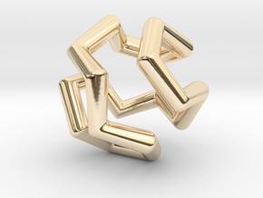 Icosian Pendant in 14K Yellow Gold