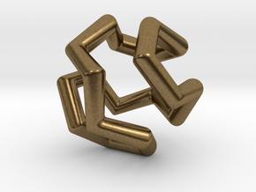 Icosian Pendant in Natural Bronze
