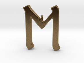 Rune Pendant - Eh in Natural Bronze