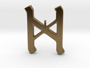 Rune Pendant - Dæg in Natural Bronze