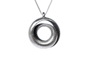 Negative Mobius Pendant in Stainless Steel