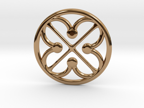 Quatrefoil Pommel Marker in Polished Brass