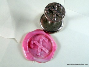 Candy Canes Wax Seal in Polished Bronzed Silver Steel