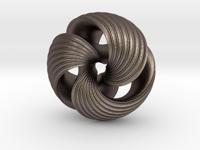 Mobius Knot (S) in Polished Bronzed Silver Steel