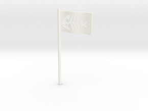 Fish Flag for Starch-Bishop's Palace in White Processed Versatile Plastic
