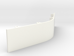 Paddle Assembly - Center Plate Half Spacer in White Processed Versatile Plastic