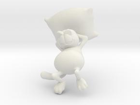 Garfield resting in White Natural Versatile Plastic