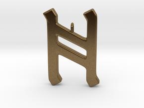 Rune Pendant - Hægl in Natural Bronze
