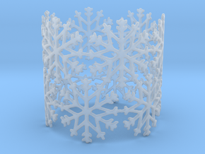 Snowflake Tea Light Ring in Smooth Fine Detail Plastic