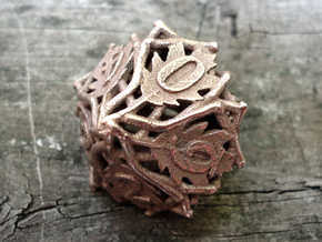 Botanical Die10 (Oak) in Polished Bronzed Silver Steel
