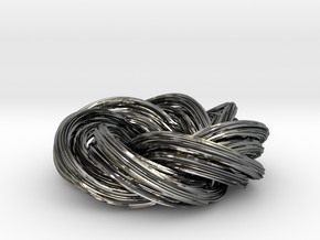 Baby You And Me, We've Got A Groovy Kind Of Knot in Fine Detail Polished Silver