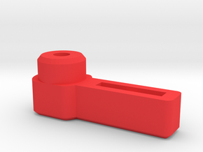 Thumb Lever for 3mm Cap Screw  in Red Strong & Flexible Polished