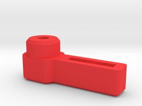 Thumb Lever for 3mm Cap Screw  in Red Processed Versatile Plastic