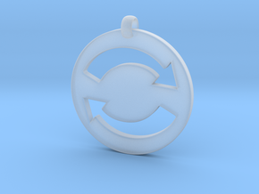 Refresh Sign Pendant, 3mm thick. in Smooth Fine Detail Plastic