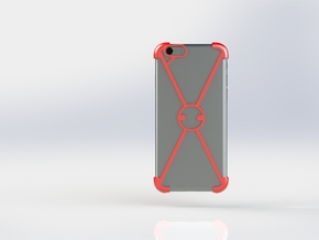 """X"" For iPhone 6 in Red Processed Versatile Plastic"