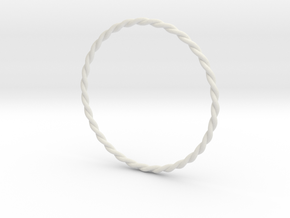 DoubleTwist Bangle Bracelet MEDIUM in White Natural Versatile Plastic