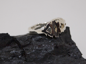 """""""I Love You"""" Sound Wave Ring in Premium Silver"""