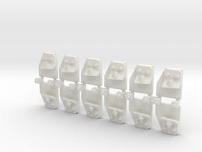 "GWR 1in7 BC ""Slab & Bracket"" chair - 6 in White Natural Versatile Plastic"