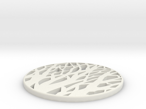 TREE SILHOUETTE COASTER in White Strong & Flexible