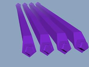 4 long purple struts in White Natural Versatile Plastic