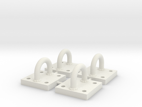 1/6 Scale Bracket 003 in White Strong & Flexible