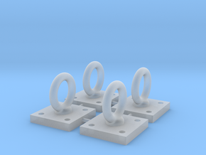 1:6 Scale Loop Bracket 004 in Smooth Fine Detail Plastic
