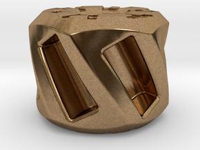 Twisted Hex Bead 1: Tritium (Pandora Thread) in Natural Brass