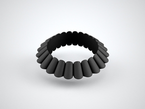 Chantilly-circle in Black Strong & Flexible