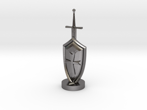 Role Playing Counter: Sword & Shield in Polished Nickel Steel